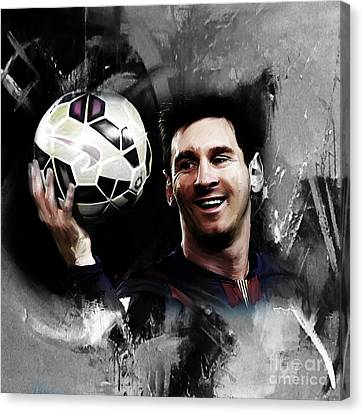 Lionel Messi 03c Canvas Print by Gull G
