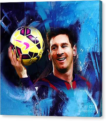 Lionel Messi 03d Canvas Print by Gull G
