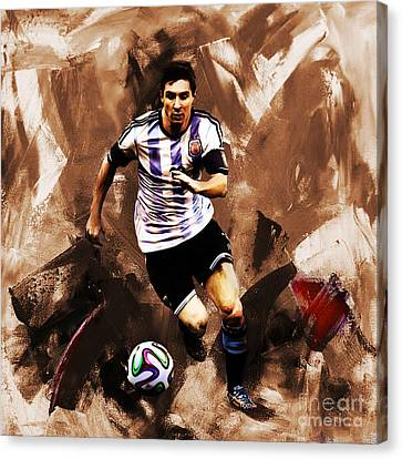 Lionel Messi 094 Canvas Print by Gull G