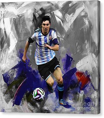 Lionel Messi 094a Canvas Print by Gull G