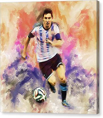 Lionel Messi 094c Canvas Print by Gull G