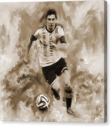 Lionel Messi 094f Canvas Print by Gull G