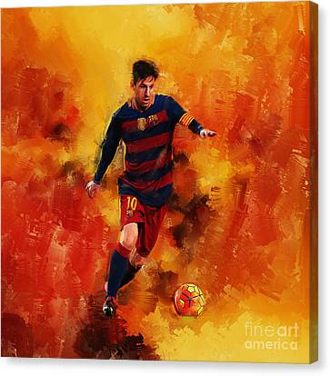 Lionel Messi Canvas Print by Gull G