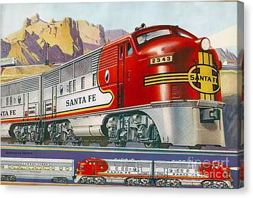 Lionel Train Catalog  Canvas Print by Garland Johnson