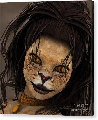 Lioness Canvas Print by Jutta Maria Pusl