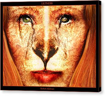 Lioness Canvas Print by Robert  Adelman
