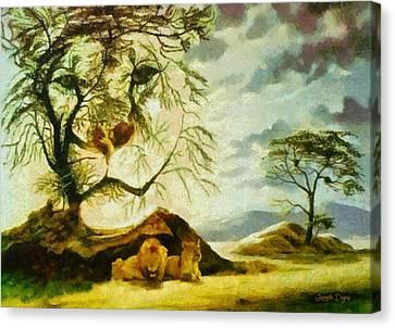 Lions At Break - Pa Canvas Print