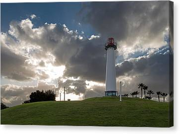 Lion's Lighthouse For Sight - 2 Canvas Print by Ed Clark