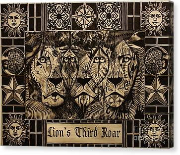 Lion's Third Roar Canvas Print by Michael Kulick