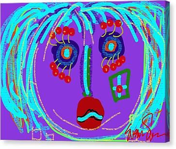 Lippy Girl Canvas Print