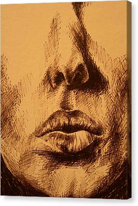 Lips Are Beautiful Canvas Print by J Oriel