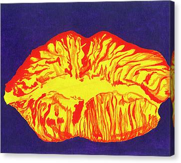 Lips Canvas Print by Rishanna Finney