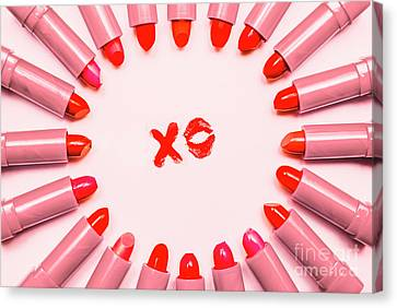 Lipstick Kisses Xo Canvas Print by Jorgo Photography - Wall Art Gallery