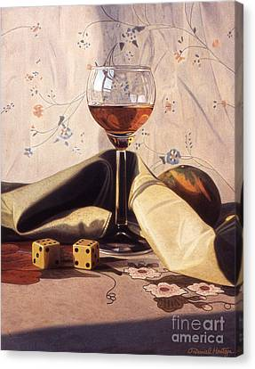 Liqueur Glass And Orange Canvas Print by Daniel Montoya