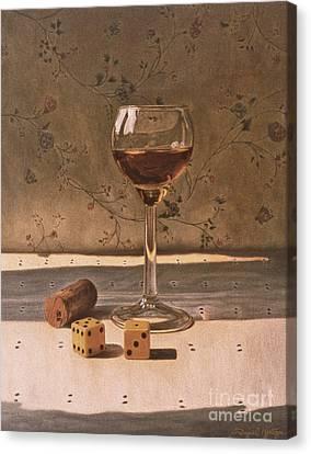 Liqueur Glass And Pair Of Dice Canvas Print by Daniel Montoya