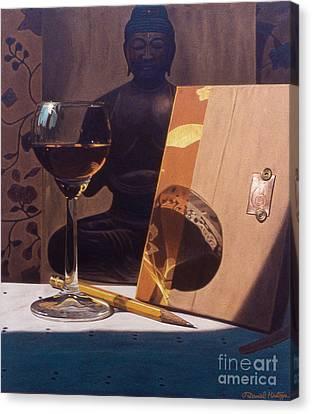 Liqueur Glass And Pencil Canvas Print by Daniel Montoya