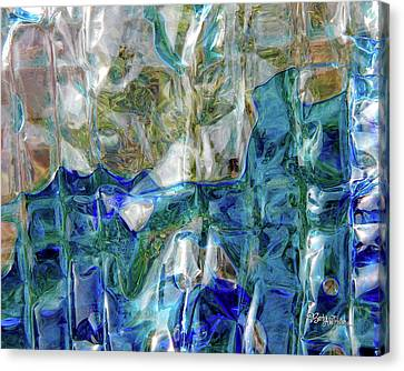 Canvas Print featuring the photograph Liquid Abstract #0061 by Barbara Tristan