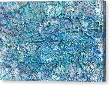 Canvas Print featuring the painting Liquid Abstract #22617 by Robert Anderson