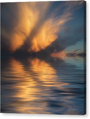 Liquid Cloud Canvas Print by Jerry McElroy