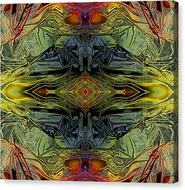 Liquid Decalcomania Mirror Canvas Print