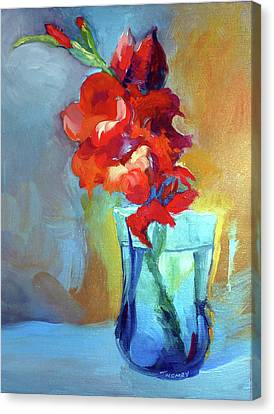 Liquid Gladiolas Canvas Print