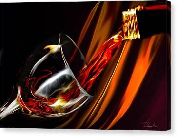Liquid Gold Canvas Print by Danuta Bennett