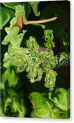Liquid Grapes Canvas Print by Carol  Eliassen