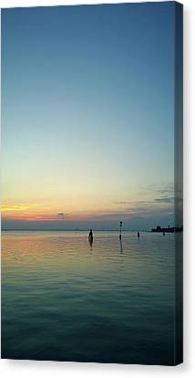 Canvas Print featuring the photograph Liquid Sunset by Anne Kotan