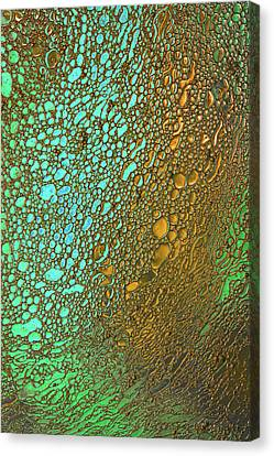 Liquid Turquoise Gold Canvas Print by Bruce Pritchett
