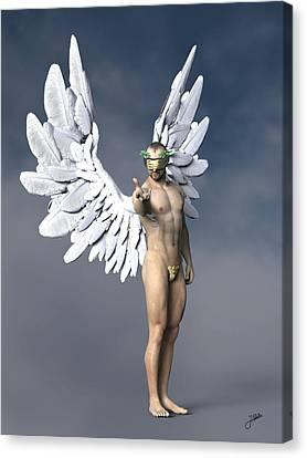 Seraphim Angel Canvas Print - Liquor Angel by Joaquin Abella