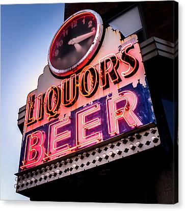 Liquors And Beer On University Ave Canvas Print by Jim Hughes