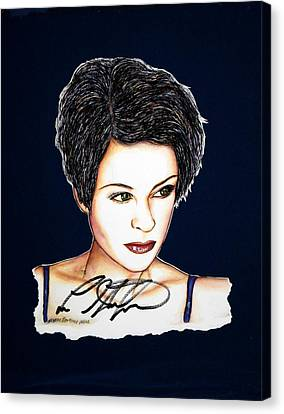 Lisa Stansfield Canvas Print - Lisa Standsfield by Joseph Lawrence Vasile
