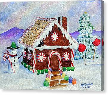 Lisa's Gingerbread House Canvas Print