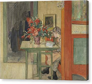 Lisbeth Reading Canvas Print by Carl Larsson