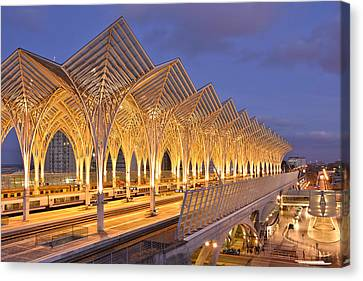 Canvas Print featuring the photograph Lisbon Gare Do Oriente by Marek Stepan