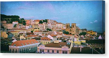 Lisbon Panorama Canvas Print by Carlos Caetano