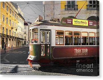 Lisbon Tram, Portugal Canvas Print by Philip Preston