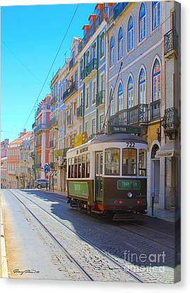 Lisbon Trams Canvas Print