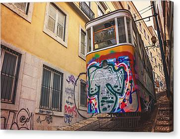 Graffiti Canvas Print - Lisbon's Lively Transport by Carol Japp
