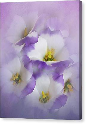 Canvas Print featuring the photograph Lisianthus Grouping by David and Carol Kelly