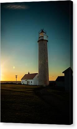 Lista Fyr At Sunset Canvas Print by Mirra Photography