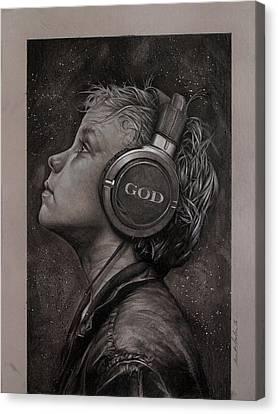 Spiritual Art Canvas Print - Listen 10 by Brent Schreiber