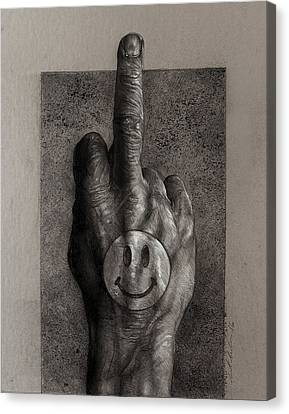 Listen 13 - Honesty With Compassion Canvas Print