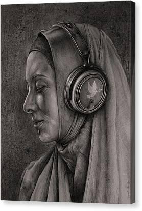 Listen 21 Canvas Print