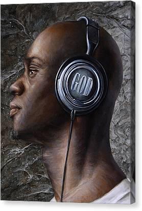 Listen 5  Canvas Print by Brent Schreiber
