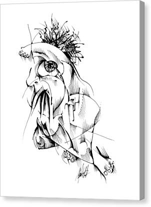 Canvas Print featuring the drawing Listen by Keith A Link