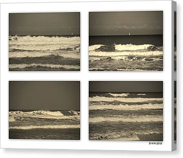 Listen To The Song Of The Ocean Canvas Print by Susanne Van Hulst