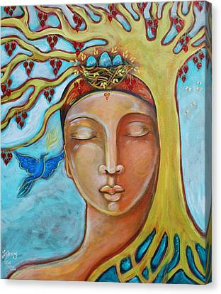 Rooted Canvas Print - Listening by Shiloh Sophia McCloud