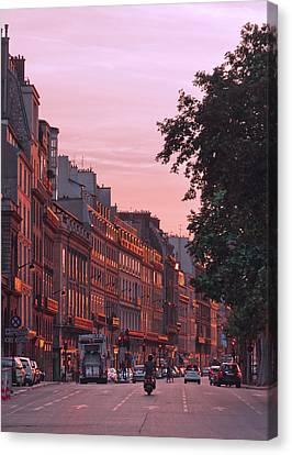 Lit Copper In Paris Canvas Print by Steven Maxx