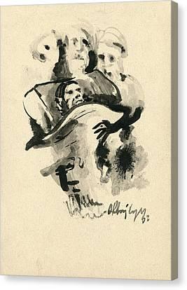 Lit De Mort Canvas Print by Taylan Apukovska